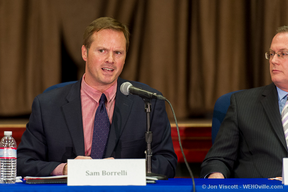 sam borelli at the council debate