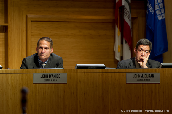 John D'Amico at the city council meeting
