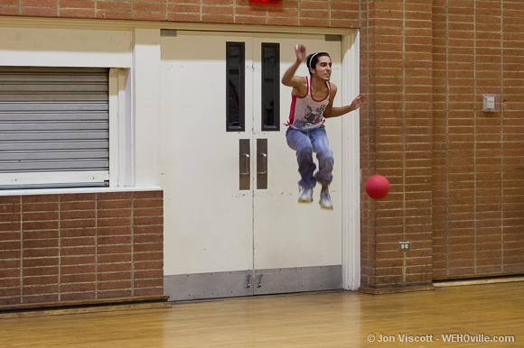 Jonny Ebram takes flight.