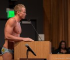 8 Shots of Speedo Speaker Michael Crosby Addressing WeHo's City Council; Nearly Naked, Obviously