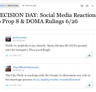 Social Media Reactions to Prop 8 and DOMA Rulings