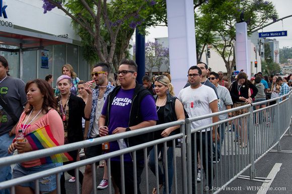 la pride 2013 purple party dyke march