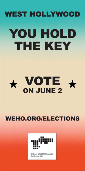 VOTE WEHO - JUNE 2
