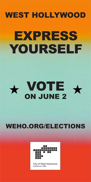 VOTE WEHO - JUNE 2