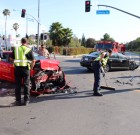 At Least One Person Injured in Two-Car Crash on Santa Monica Blvd. Today