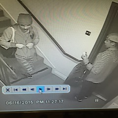 Thieves stealing mail at 718 N. Croft Ave. in June (date and time on photo are not accurate)