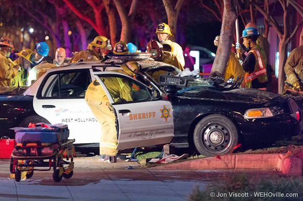 Car Accident Last Nught In Santa Clarita