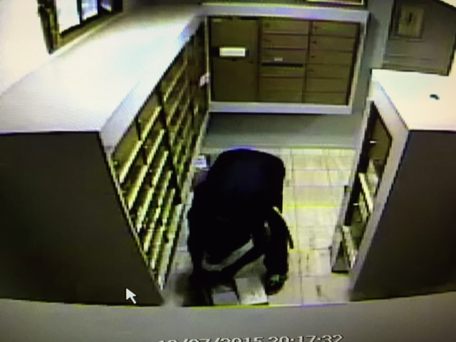 A man captured on video as he steal mail from 906 Doheny Drive on Dec. 7.