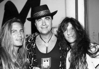 Filthy McNasty (center) with Shawn Crosby and Micky Perez of Jones Street.