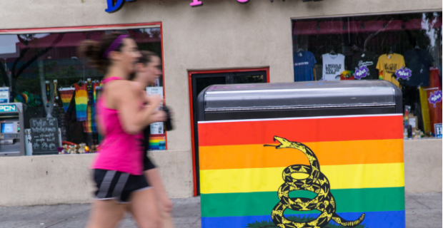 PDC Evacuates Red Building After Grindr Bomb Threat; #ShootBack Posters Go Up in WeHo