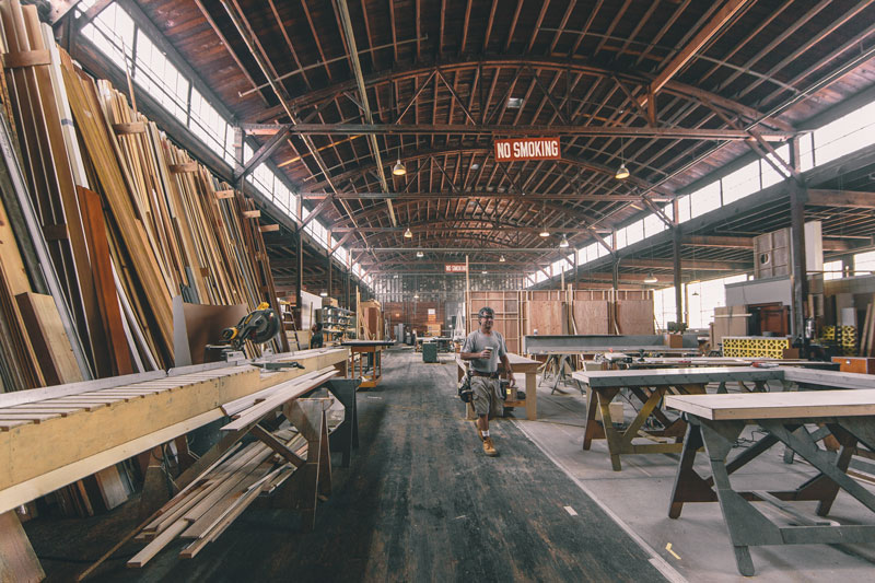 Set-building at The Lot. (Photo by Paolo Fortades)
