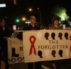 Hundreds March Down Santa Monica Boulevard for Worlds AIDS Day