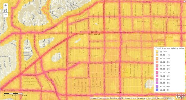 WeHo By The Numbers Noise From The Street Noise From The Air - Us noise map