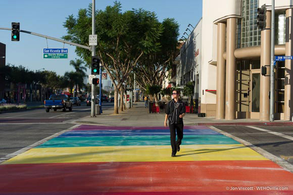 West Hollywood Rainbow Crosswalk