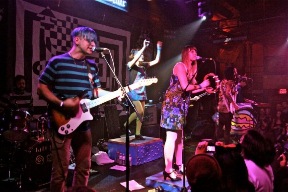 Tilly and the Wall performing at the Troubadour. (Photo by Faye Duhamel)
