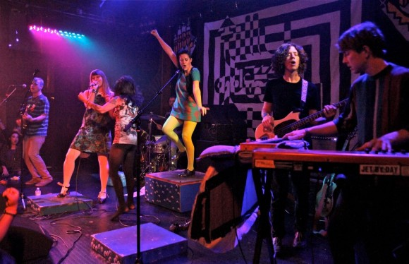Tilly and the Wall performing at the Troubadour (Photo by Faye Duhamel)