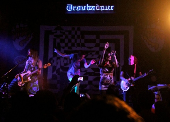 Tilly and the Wall perform at the Troubadour (Photo by Faye Duhamel)