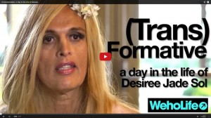 Screen shot from (Trans)Formative, biographical video about Desiree Jade Sol