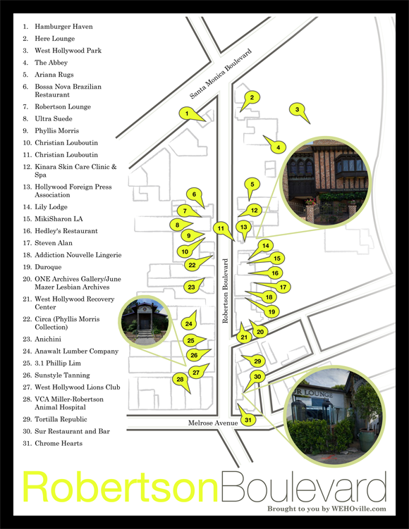 Robertson Boulevard Map