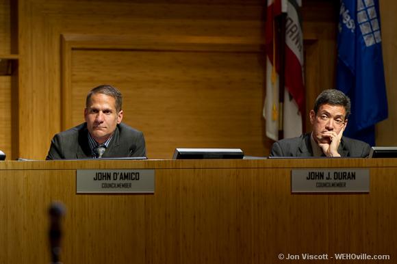 John D'Amico at the city council meeting