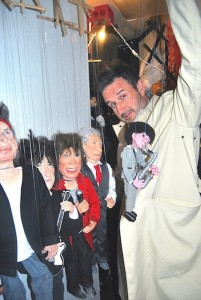 David Arquette and puppets