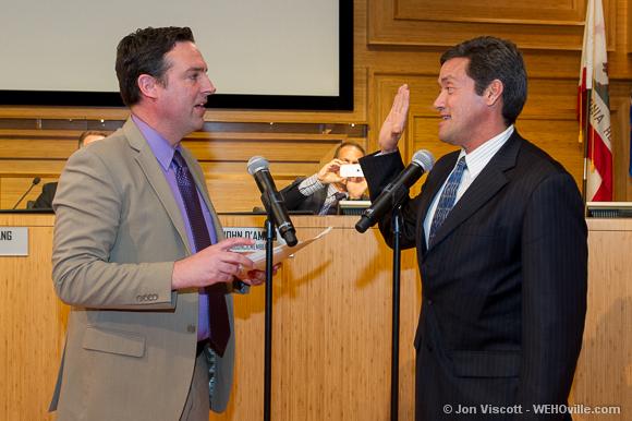 John Duran sworn in