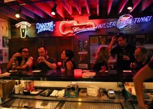 Troubadour bar area