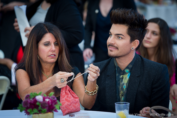 Adam Lambert with his mom Leila Lambert.