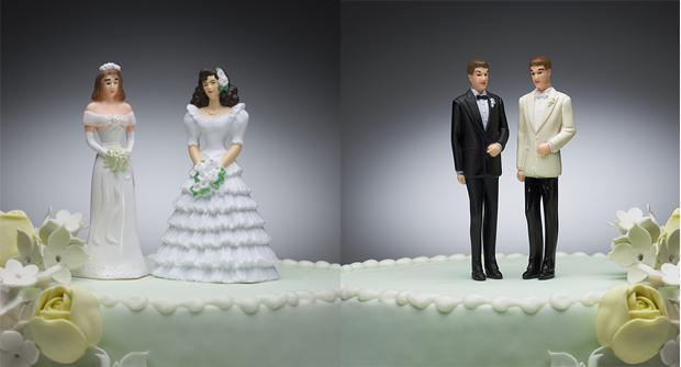 Married Couples Wedding Cake