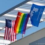 city hall rainbow flag