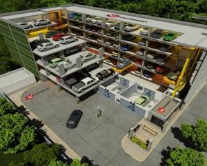 West Hollywood City Hall Robotic Parking Garage