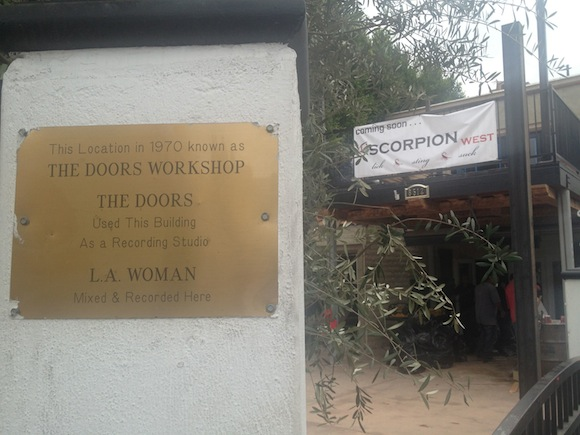Martin Torres, owner of L'Scorpion, plans to open a West Hollywood location at the location that was once a workshop for The Doors.