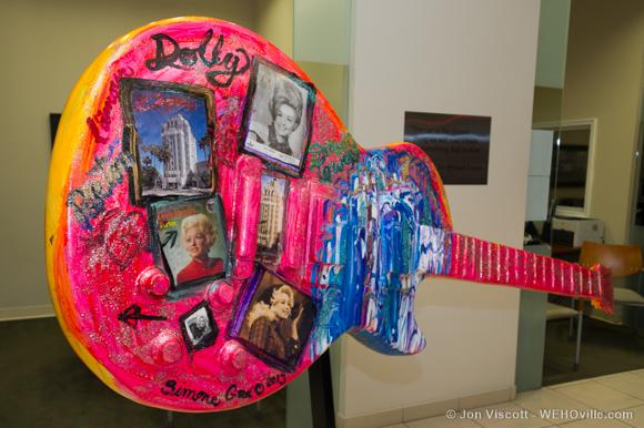 guitartown art sculptures - dolly parton