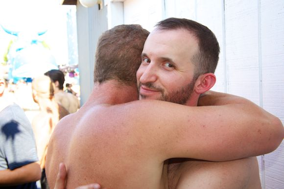 Kevin and Andy get close.