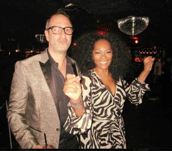 Christos Garkinos and Jody Watley. (Photo by Tyler Curtis)