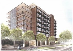 A rendering from Townscape Partners of its plans for the building located at 8899 Beverly Boulevard.