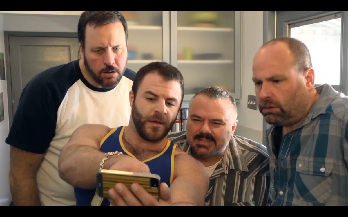 L to R, Wood (Joe Dietl), Hot Toddy (Ian Parks), Nelson (Ben Zook) and Reggie (Rick Copp) of 'Where the Bears Are.'