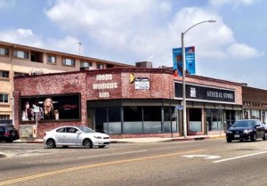8335 Melrose Ave. at Kings, vacant former location of Ed Hardy's General Store