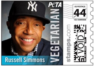 PETA's Russell Simmons stamp