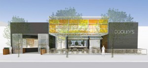 A rendering of Cooley's as seen from Santa Monica Boulevard.