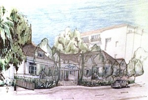 Architectural rendering of renovated San Vicente Inn