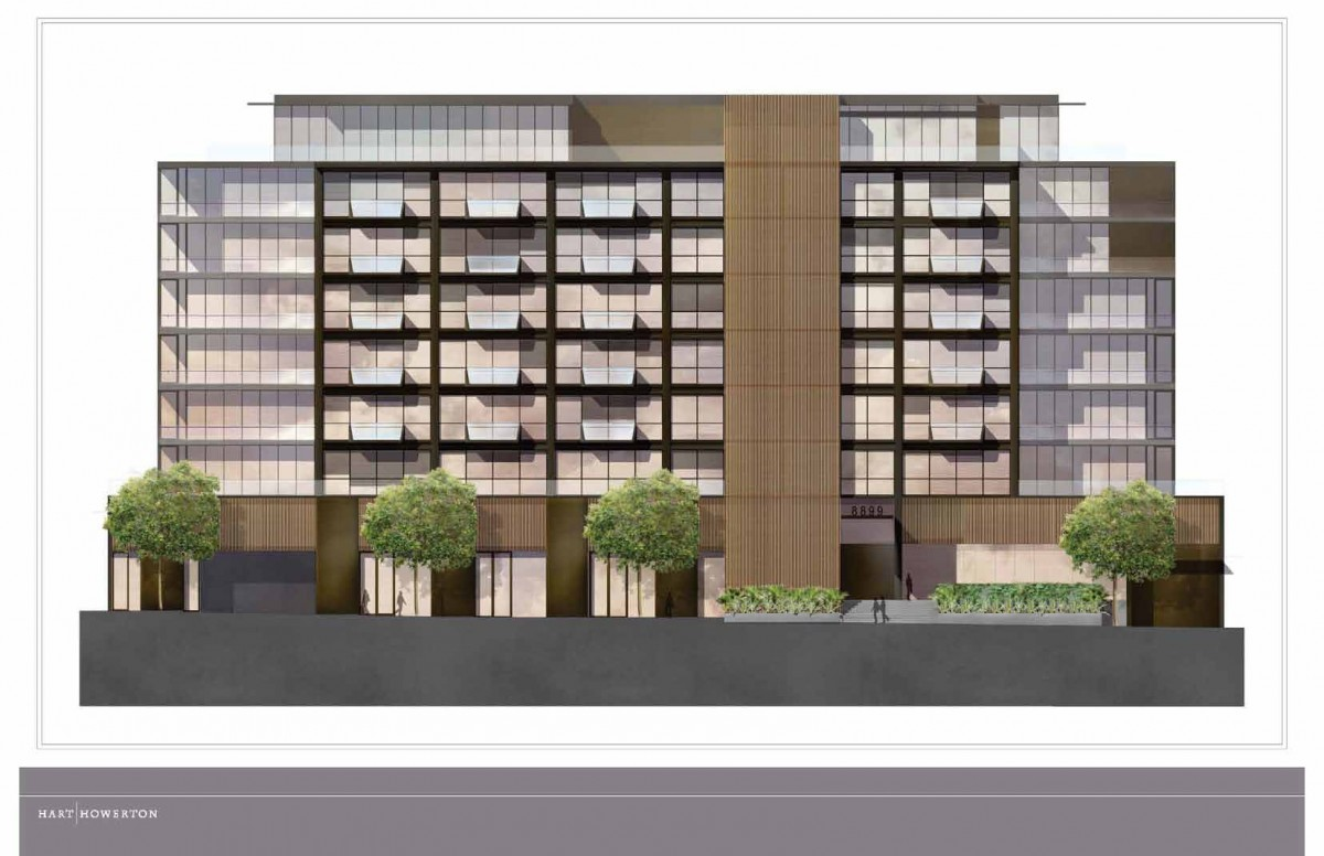 Rendering of proposed redesign of 8899 Beverly Blvd.