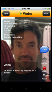 An older Grindr profile of West Hollywood City Councilmember John Duran's .