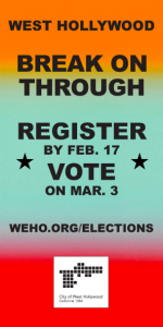 West Hollywood voter registration ad
