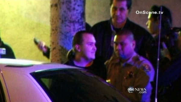 Harry Burkhart being arrested on Jan. 2, 2012 by West Hollywood deputies.
