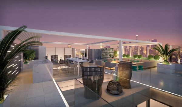 The rooftop terrace of the $25,000-a-night Vivienne Westwood suite at the London West Hollywood.