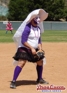 Playing ball at the Drag Queen World Series