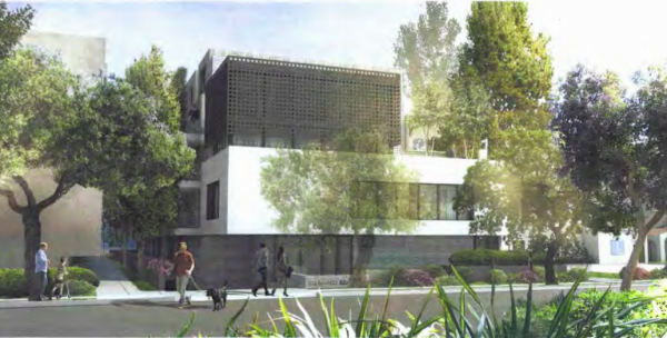Illustration of proposed 826 N. Kings Rd. project