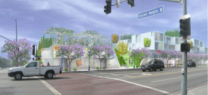 Illustration of the proposed 8120 Santa Monica Blvd. project (Architects Lorcan O'Herlihy)