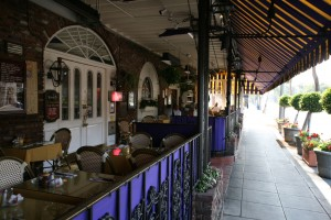The French Quarter's outdoor dining area
